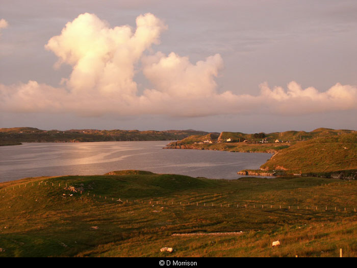 Evening sun over Loch Erisort