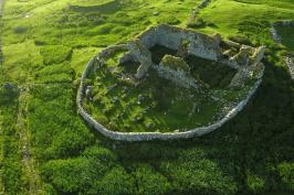Aerial view of Teampall na Trianaid