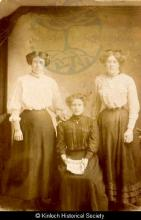 Studio portrait of three women from Kinloch <a href='/image-details/86581'>(more info)</a>