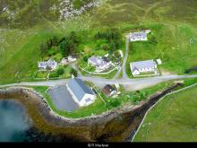 Aerial view of the churches at Miavaig <a href='/image-details/88674'>(more info)</a>
