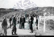 Breaclete men at Bernera bridge <a href='/image-details/86255'>(more info)</a>