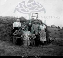 Making a haystack in Balallan in the 1960s <a href='/image-details/87658'>(more info)</a>