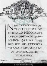 Carnegie Trust Certificate of Heroism <a href='/image-details/86926'>(more info)</a>