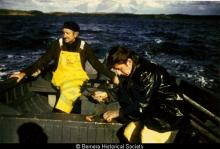 Murdo and Dolly Angus Macdonald lobster fishing <a href='/image-details/85034'>(more info)</a>
