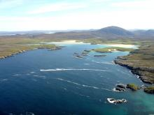 Aerial view of Camas Uig and Uig Sands <a href='/image-details/88655'>(more info)</a>