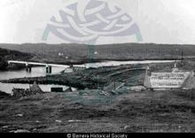 Bernera Bridge under construction from the top of Earshader <a href='/image-details/82983'>(more info)</a>