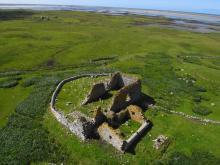 The temple, looking west towards Baleshare <a href='/image-details/110077'>(more info)</a>