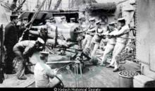 Crew on board HMS Hermes <a href='/image-details/89399'>(more info)</a>