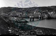 Bernera Bridge under construction from Cul Ard a Chaolais <a href='/image-details/82982'>(more info)</a>